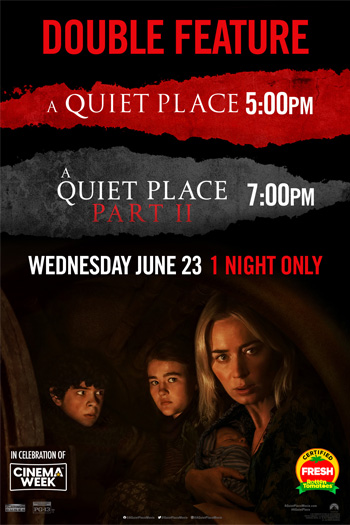 A Quiet Place Part I & II Double Feature